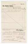1877 September 03: Voucher, to B. Baer; includes cost of coal oil and lime; D.P. Upham, U.S. marshal; Charles Burns; Stephen Wheeler, clerk