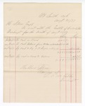1877 August 31: Voucher, includes cost of bankruptcy payments; Hubbard Stone, assignee of, D.A. McKibben
