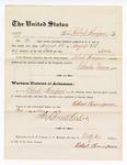1877 August 31: Voucher, to Robert Thompson; includes cost of service guarding prisoners in U.S. jail; Charles Burns, jailor; Stephen Wheeler, clerk