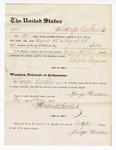 1877 August 31: Voucher, to George Heckler; includes cost of service guarding prisoners in U.S. jail; Charles Burns, jailor; Stephen Wheeler, clerk