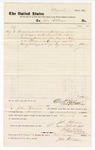 1877 September 17: Voucher, to John Paterson; includes cost of services as bailiff; D.P. Upham, U.S. marshal; Stephen Wheeler, clerk