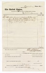 1877 August 31: Voucher, to C.M. Barnes; includes cost of attendance as acting U.S. marshal; D.P. Upham, U.S. marshal