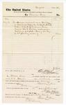 1877 September 17: Voucher, to Tilman Knox; includes cost of service as bailiff; D.P. Upham, U.S. marshal; Stephen Wheeler, clerk