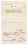 1877 September 19: Voucher, to Stacey Petit; includes cost of service as bailiff; D.P. Upham, U.S. marshal; Stephen Wheeler, clerk