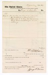 1877 August 31: Voucher, to George S. Weinston; includes cost of service as janitor in U.S court; D.P. Upham, U.S. marshal