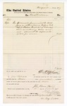 1877 September 19: Voucher, to Mrs. Mary Dodson; includes cost of meals for petit jury in U.S. jail; D.P. Upham, U.S marshal; John Paterson, bailiff; Stephen Wheeler, clerk