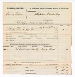 1877 September 10: Voucher, U.S. v. Edward Fulsom, retail liquor dealer without license; includes cost of warrant and subpoenaed witness; Henry Shoat, witness; served by John Tinker, U.S. deputy marshal; Stephen Wheeler, commissioner