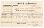1877 September 12: U.S. v. Ben Fulsom, larceny; includes cost of per diem and mileage; Thomas J. Manning and Lewis Atkuis, witnesses; W.M. Barnes, witness of signature; D.P. Upham, U.S. marshal; Stephen Wheeler, commissioner