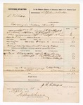 1877 September 15: U.S. v. C.F. Elmore, larceny; includes cost of mileage, returning one prisoner, and subpoenaed witnesses; James Sivers, Walter Smith, and William Wilson, Jr, witnesses; served by J.R. Rutherford, U.S. deputy marshal; Stephen Wheeler, clerk