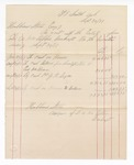 1877 September 30: Voucher, includes cost of bankruptcy payments; Hubbard Stone, assignee of D.A. McKibben