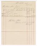 1877 October 01: Voucher, includes cost of bankruptcy payments; Hubbard Stone, assignee of D.A. McKibben