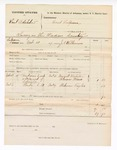 1877 November 21: Voucher, U.S. v. Samuel Dolahule, larceny in the Indian Country; includes cost of subpoenaed witnesses; Margrett Blackstone, Florence Weaver, and Claborne Taylor, witnesses; served by J.C. Wilkinson