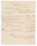 1877 October 31: Voucher, includes cost of bankruptcy payments; Hubbard Stone, assignee of D.A. McKibben