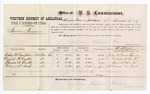 1877 November 8: Voucher, U.S. v. Tennessee Freeman; includes cost of per diem and mileage; John W. Grantham, Deliah A. Curtis, Thomas S. Curtis, and William N. Rich, witnesses; D.P. Upham, U.S. marshal; William Keever, commissioner