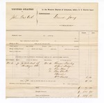 1877 November 18: Voucher, U.S. v. John Post Oak; includes cost of subpoenaed witnesses; Thomas Hawley, Alfred Hodge, One Mae, Charles Chuton, and William Budd, witnesses
