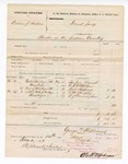 1877 December 7: Voucher, U.S. v. Andrew J. Bashaw, murder in the Indian Country; includes cost of subpoenaed witnesses; Simpson Bennett, W.P. McMickeu, Jack Sheppard, C.M. Murphy, and A.J. Cunningham, witnesses; George Williams, U.S. deputy marshal; Stephen Wheeler, clerk; D.P. Upham, U.S. marshal