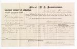 1877 November 27: Voucher, U.S. Lander Zane, assault with intent to kill; includes cost of per diem and mileage; Achilles F. Burchett, William Zane, and John W. Grayeyes, witnesses; D.P. Upham, U.S. marshal; Stephen Wheeler, commissioner