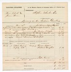 1877 December 13: Voucher, U.S. v. Major Roberts and James Moore, larceny; includes cost of mileage, feeding one prisoner, and one guard; German McIntosh, guard; Thomas Lafaver and Richard Berryhill, witnesses; served by George Williams, U.S. deputy marshal; Stephen Wheeler, commissioner