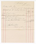 1877 November 30: Voucher, includes cost of bankruptcy payments; Hubbard Stone, assignee of D.A. McKibben