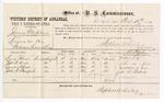 1877 December 10: Voucher, U.S. v. James Mehlan, larceny; includes cost of per diem and mileage; Lewis J. Keys, John W. Keys, Leander A. Keys, and John W. Starford, witnesses; D.P. Upham, U.S. marshal; Stephen Wheeler, commissioner