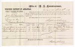 1877 December 11: Voucher, U.S. v. John McCallister, larceny in the Indian Country; includes cost of per diem and mileage; Joseph Puler, David Sherrill, and William Webber, witnesses; C.M. Barnes, witness of signatures; D.P. Upham, U.S. marshal; Stephen Wheeler, commissioner
