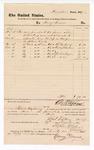1877 December 27: Voucher, to Henry Turner; includes cost of meals served to jury and bailiff during U.S. v. Al Newberry, U.S. v. Andrew J. Busham, and U.S. v. Caolina Greyson, et. Al; D.P. Upham, U.S. marshal; Robert Fetz Henry, bailiff; Stephen Wheeler, clerk