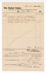 1877 December 15: Voucher, to John Paterson, for service as bailiff in U.S. court; D.P. Upham, U.S. marshal; Stephen Wheeler, clerk