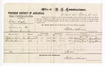 1877 December 19: Voucher, U.S. v. Robert Kill, larceny; includes cost of per diem and mileage; Batiste Seeley and Houston Brown, witnesses; George S. Winston, witness of signatures; D.P. Upham, U.S. marshal; Stephen Wheeler, commissioner