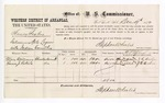 1877 December 19: Voucher, U.S. v. Nancey Bryley, Introducing spirituous liquor; includes cost of per diem and mileage; Mary Williams and Emma J. Roberts, witnesses; J.W. Mershon, witness of signatures; D.P. Upham, U.S. marshal; Stephen Wheeler, commissioner