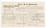 1877 December 20: Voucher, U.S. v. Robert Kill, larceny; includes cost of per diem and mileage; Robinson Brown, Dock Carson, Charles McCauley, and Sampson Sexton, witnesses; George S. Winston, witness of signatures; D.P. Upham, U.S. marshal; Stephen Wheeler, commissioner
