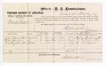 1877 December 20: Voucher, U.S. v. Frank Ragan; includes cost of per diem and mileage; John B. Nawett, M.M. Chandler, and C.B. Hazelton, witnesses; D.P. Upham, U.S. marshal; Stephen Wheeler, commissioner