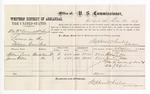 1877 December 21: Voucher, U.S. v. Alex McCormack and William Siereh, larceny; includes cost of per diem and mileage; William Davis and James Willis, witnesses; J.H. Yershawn, witness of signatures; D.P. Upham, U.S. marshal; Stephen Wheeler, commissioner
