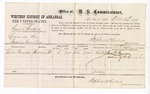 1877 December 24: Voucher, U.S. v. Samuel Booker, larceny in the Indian Country; includes cost of per diem and mileage; James Grayson, witness; D.P. Upham, U.S. marshal; Stephen Wheeler, commissioner