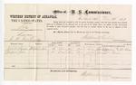 1877 December 27: Voucher, U.S. v. Silas, larceny; includes cost of per diem and mileage; John A. Sanders and Jemson Jones, witnesses; John Paterson, witness of signatures; Stephen Wheeler, commissioner