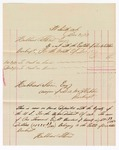 1877 December 31: Voucher, includes cost of bankruptcy payments; Hubbard Stone, assignee of D.A. McKibben
