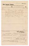 1877 December 31: Voucher, to J.P. Clarke; includes cost of services rendered; Stephen Wheeler, clerk; D.P. Upham, U.S. marshal