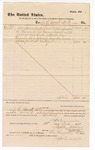 1877 December 31: Voucher, to J.E. Bennett, M.D.; includes cost for services and medicine for prisoner in the U.S. jail; Stephen Wheeler, clerk