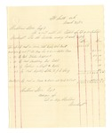 1878 March 31: Voucher, includes cost of bankruptcy payments; Hubbard Stone, assignee of D.A. McKibben