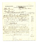 1878 April 24: Partial Voucher, U.S. v. William Dommey and George Dommey, assault with intent to kill in the Indian Country; includes cost of mileage, feeding two prisoners, and subpoenaed witnesses; Charley Morris and Simeon Garnett, witnesses; L.M. Pettigner, jailor; served by H.C. Mantin, U.S. deputy marshal; Joseph Martin, posse comitatus