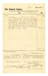 1878 August 3: Voucher, to J.P. Clarke; includes cost for service as crier; D.P. Upham, U.S. marshal; Stephen Wheeler, clerk