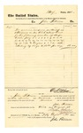 1878 August 3: Voucher, to John Paterson; includes cost for service as bailiff; D.P. Upham, U.S. marshal; Stephen Wheeler, clerk