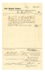 1878 August 2: Voucher, to Dwight Wheeler; includes cost for service as bailiff; D.P. Upham, U.S. marshal; Stephen Wheeler, clerk