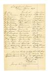 1878 May 1: Grand jury summons, H. Stone, W.M. Freeman, John Maledon, B.P. Renfree, L.L. Colton, W.H. Shibley, W.W. Woodruff, Fredrick King, J.M. Clarchay, John Layne, W.W. Crawford, S. Quesenbury, August Paxton, L.B. Byers, Anton Eupor, Newton Titsworth, Austin Billingsley, Moses Baum, jurors; Samuel Walters, M.F. Forke, and F.W. Boas, jury commissioners