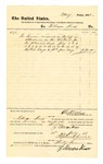 1878 July 20: Voucher, to Tillmon Knox; includes cost for service as bailiff; D.P. Upham, marshal; Stephen Wheeler, clerk
