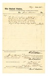 1878 August 3: Voucher, to Jacob Maledon; includes cost for service as bailiff; D.P. Upham, U.S. marshal; Stephen Wheeler, clerk