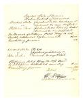 1878 May 16: Voucher, U.S. v. William Paris, introducing spirituous liquors, retail liquor dealer, and U.S. v. Peter Fisher, introducing spirituous liquor in the Indian Country; D.P. Upham, U.S. marshal