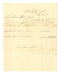 1878 May 31: Voucher, includes cost of bankruptcy payments; Hubbard Stone, assignee of D.A. McKibben