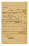 1878 July 18: Voucher, U.S. v. William Potts, larceny in the Indian Country; includes cost of mileage and feeding one prisoner; William Mix, Frank Welch, and William Welch, witnesses; James Wheeler, posse comitatus; Samuel Craggius, guard; served by J.N. Mershon, U.S. deputy marshal; Stephen Wheeler, clerk