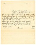 1878 July 6: Voucher, includes cost of serving subpoenas in U.S. v. J.O. Sill; John Conier; James Anderson, witness