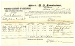 1878 June 25: Voucher, U.S. v. James C. Kimmons, cutting timber on green land; includes cost of per diem and mileage; William W. Smith, William Cantrell, and Felix Smith, witnesses; E.B. Harrison, witness of signatures and commissioner; D.P. Upham, U.S. marshal
